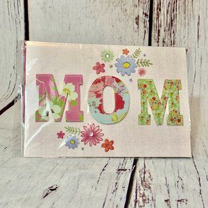 Mother's Day Card MOM 3D Letters